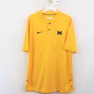 Nike Mens Large Michigan Wolverines Henley Shirt
